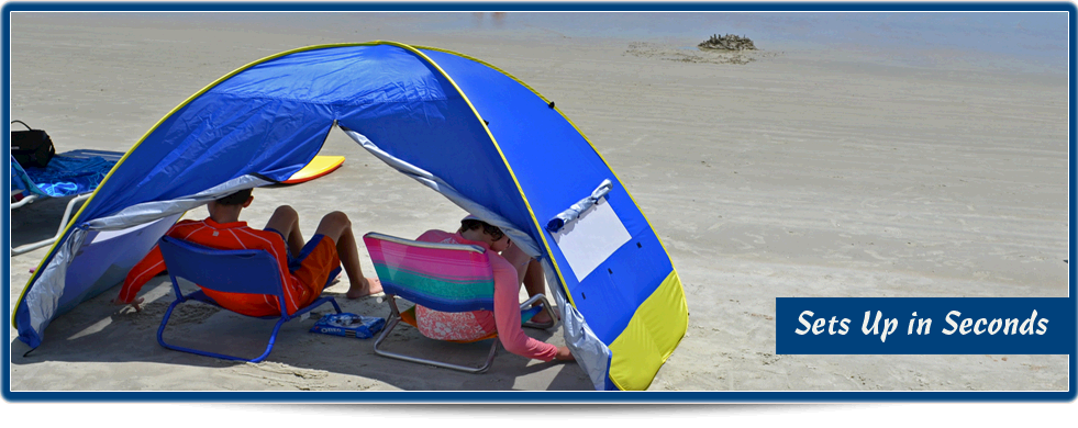 sports shoes f0bcb 52ba5 Beach Shade Tents | Instant Beach Canopies And Pop Up Shelters